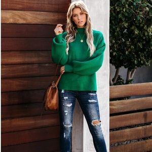 BIANA Mock Neck Knit Sweater